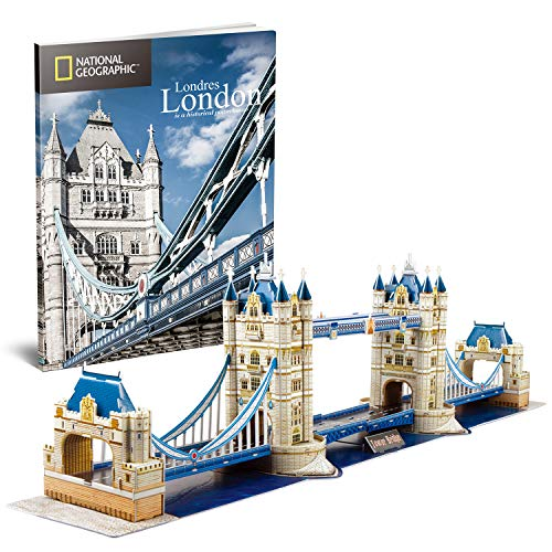 CubicFun Puzzle 3D Tower Bridge Londra, con National Geographic Libretto Fotografico, 120 Pezzi