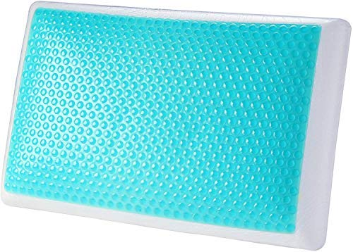 MODVEL Gel Memory Foam Cooling Pillows Stomach Sleepers | Orthopedic Neck & Back Support for A Relaxed Sleeping Experience | Medium-Plush Feel | Removable Washable Covers, White