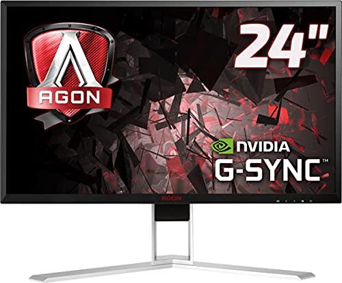 AOC AGON AG241QG - 24 Zoll QHD Gaming Monitor, 165 Hz, 1ms, G-Sync (2560x1440, HDMI, DisplayPort, USB Hub) schwarz