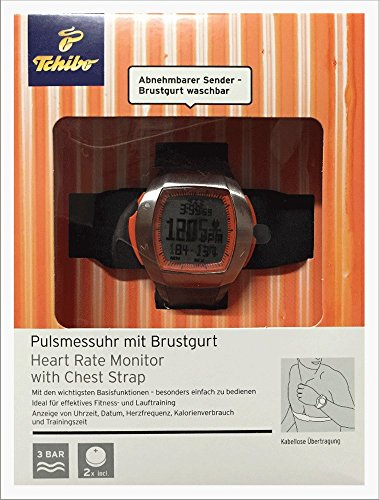 TCM Tchibo Pulsmessuhr mit Brustgurt Heard Rate Monitor