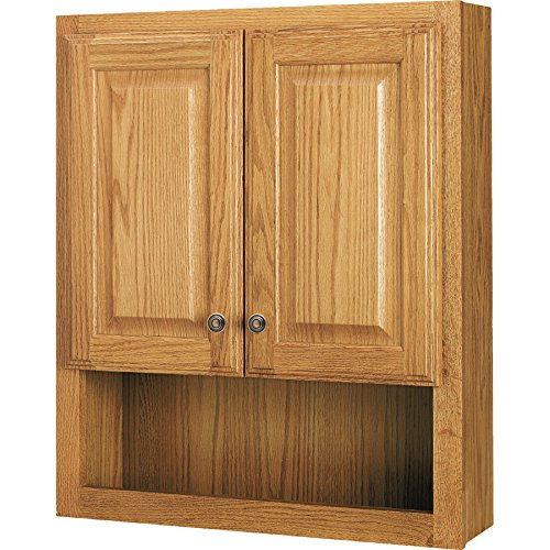 Style Selections 23-in x 28-in Ready-to-Assemble 2 Door Bathroom Wall Wood Medicine -