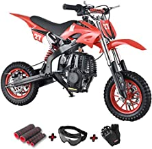 X-Pro Kids Dirt Bike Youth Dirt Pitbike 40cc Mini Gas Power Bike Off Road Ride-on Bikes with Gloves, Goggle and Handgrip