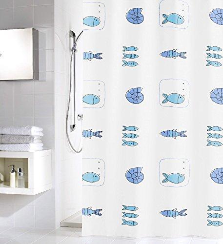 Meusch 2605148305 Duschvorhang Waterworld, 180 x 200 cm, Multicolor