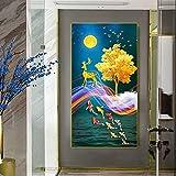 Pintura en lienzo de peces de colores coloridos, carteles e impresiones de arte abstracto de animales, cuadros de pared,...