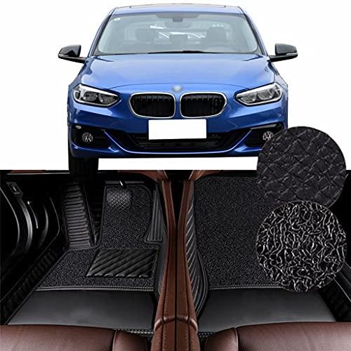 QCYP Alfombrillas para Coches Adecuado para BMW Serie 1 Sedan 118i (Ajuste Manual de Aire Acondicionado/neumático: 225/45 R17) 2017 Alfombrillas de Auto,LHD
