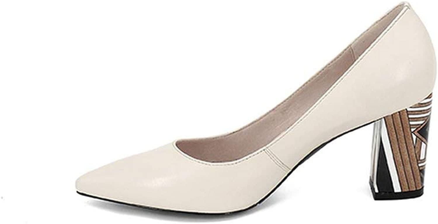 Women's Pumps High Heel Pointed Toe Party Spring shoes Handmade Shallow Pumps