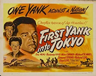 Movie Posters First Yank Into Tokyo - 27 x 40