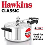 HAWKINS Classic CL40 4-Liter New Improved Aluminum Pressure Cooker, Small, Silver