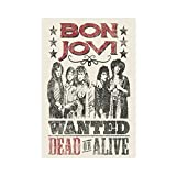 Bon Jovi Rock Band Leinwand Poster Schlafzimmer Dekor Sport