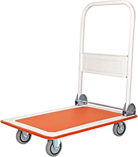 Folding Flatbed, Warehouse Silent Car Hand Trolley Steel Plate Handling Trolley Size 90 * 60 * 90CM (Size : 90 * 60 * 90CM)