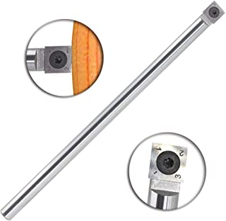Wood Turning tool Carbide Tipped Lathe Full Size Rougher Tool bar With Square Carbide Insert and Screw M6×8 and star key wrench,for wood hobbyist or DIY or carpenter, Type SQ-14(Handle not Include)