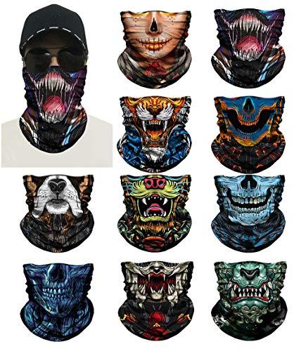 Tier Monster Schädel 3D Maske Festival Motorrad Gesichtsschutz Outdoor Sonnenmaske Ghost Party Masken Festliche Maskerade Tiger Venom Maske (Stil 5)