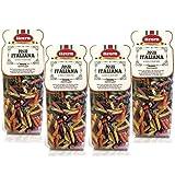 Livera Penne 6 Colores 4 X 500 Gr, Pasta Cortas de Sémola de Trigo Duro 100% Made in Italy, Pasta...