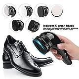 Pulidora Eléctrica Automática De Zapatos 6In1, Kit De Cepillo De Limpieza De Cuero, Carga USB Zapato De Mano Cepillo Pulidor De Brillo, Negro