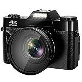 48MP Digital Camera, 4K Vlogging Camera Camcorder for YouTube, 3.0 Flip Screen YouTube Camera 16X Digital Zoom Blogging Camera with SD Card