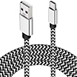USB Type C Charger Cable,15FT Long USB C Cable for Google Pixel 4 XL,Samsung S10 S9 Plus S8, Galaxy Note 10, LG V30, DEEGO Nylon Braided Charging Type C Cord for Nintendo Switch MacBook Wall Charger