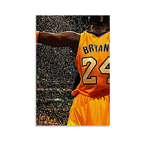 Ghychk Kobe-Bean-Bryant Sports Superstar Poster Artwork Paintings, Canvas Artworks Picture Art Hang for Living Room,Dinning Room, Bedroom 16x24inch(40x60cm)