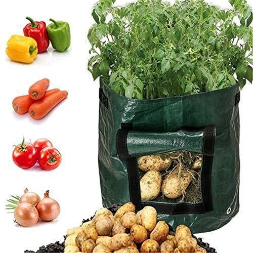 Yeying123 3-Pack Grow Bags Aeration Fabric Pots DIY Potato Planter Taschen mit Flap für Anbau-Gemüse: Kartoffeln, Karotten & Onion,7gallons34x35cm