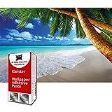 GREAT ART Photo Carta da Parati – spiaggia di palme – fotografico Murales Decorazione Caraibi Baia Paradiso naturale Isola Tropici – 210 x 140 cm 5 pezzi e colla inclusa