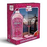 Larios Rosé Ginebra Premium 37,5 % + Pack Regalo Copa - 700 ml