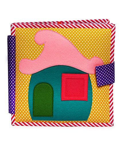 cubs and calves Me All Day - 8 Page Quiet Book- Everyday Routine - Doll House Fabric Book, Dollhouse