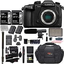 Panasonic GH5 Lumix 4K Mirrorless ILC Camera Body, Transcend 64GB Memory, Ritz Gear SLR Camera Bag, 2 Batteries, Charger and DC-GH5KBODY Accessory Bundle