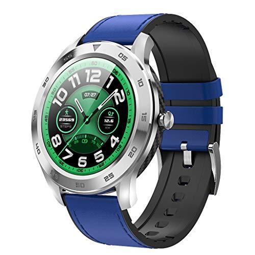 APCHY Reloj Inteligente Smart Watch,Rastreadores De Actividades De Llamada De Bluetooth Círculo Completo,Detección De ECG De Marcación Múltiple, Pedómetro Deportivo Inteligente IP68,Ritmo Cardíaco,B