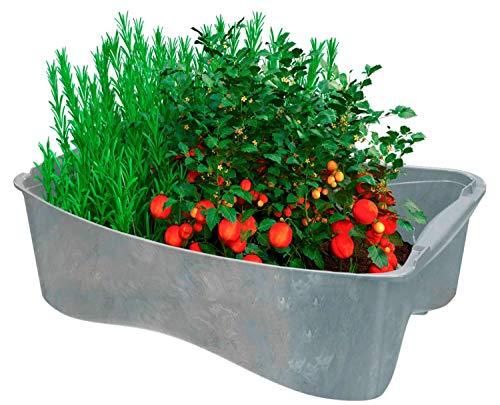 U-greeny Pflanzbox Sottovaso multibox per fioriera aiuole Rialzate 100% Materiale Riciclato Vaso per Piante per balconi, Giardino e terrazza, Sistema di drenaggio dell'Acqua Integrato, Grigio Chiaro