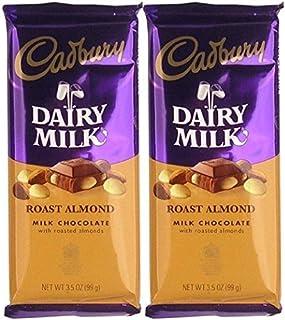 Cadbury Premium Milk Chocolate with Roasted Almonds Bar, 3.5-Ounce (Pack of 2 Bars)