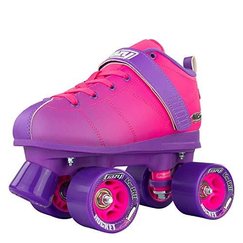 Crazy Skates Rocket Roller Skates - Quad Skates for Women - Pink and Purple (Mens 7 / Ladies 8)