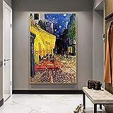 Stampe Su Tela,Pittura Su Tela Van Gogh Cafe Terrace Di Notte...
