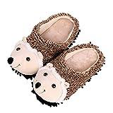 Holibanna 1 par de Zapatillas de Erizo de Dibujos Animados Zapatillas de Interior de Invierno para Mujer Zapatillas de Animales de Algodón de Felpa Cálidas