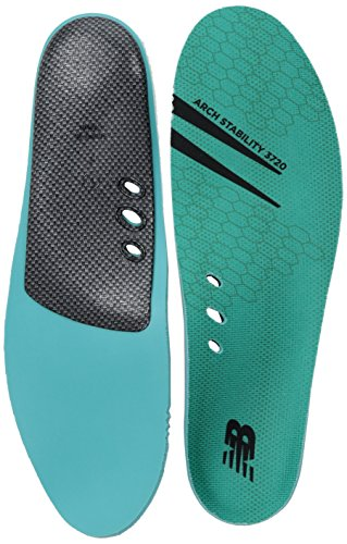 New Balance Insoles 3720 Arch Stability Insole Shoe, teal, 12.5 W US Women / 11 M US Men