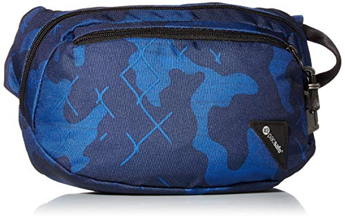 Pacsafe Unisex-Erwachsene Vibe 100 4 Liter Anti Theft Fanny Pack-Fits 7 inch Tablet Gepäck-Kuriertasche, blau Camouflage