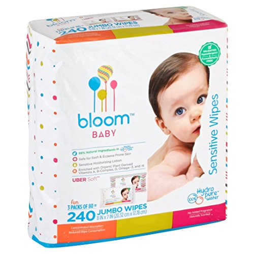 Baby Wipes by bloom BABY | Unscented | For Sensitive Skin | Formulated for...