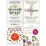 The Telomere Effect, Lifespan [Hardcover], Hidden Healing Powers Of Super & Whole Foods, The Healthy Medic Food for Life Meals in 15 minutes 4 Books Collection Set