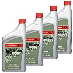 Genuine Honda Transmission Honda DW-1 Automatic Transmission Fluid, 1 quart, Pack of 4 Its wide viscosity range provides outstanding protection