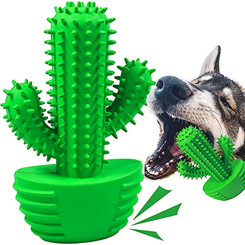 Dog Chew Toys Dog Toothbrush Stick Teeth Cleaning Squeak Puppy Brushing Dental Oral Care for Medium Large Dogs Pets