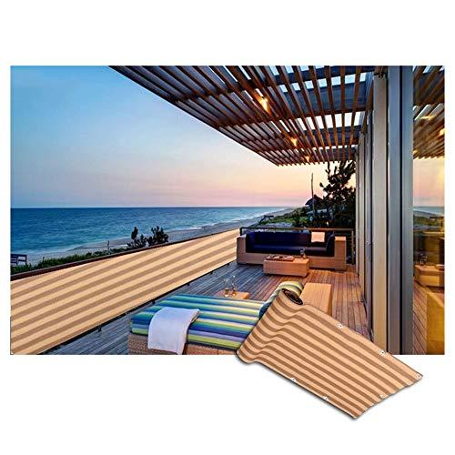 WXQIANG Tela de Sombra de Sol Sombreado Neto Malla al Aire Libre Cubierta de esgrima Privacidad A Prueba de Viento, Color Color + Amarillo Protección Solar, Aislamiento térmico. (Size : 2.7X0.9M)