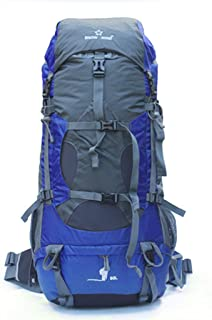 80L Large Capacity Mountaineering Bag Female Male Outdoor Rucksack Hiking Backpacker Travel Camping Backpack Light JKMQA (Color : Blue)