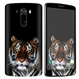 [NakedShield] SkinScratch Guard Vinyl Skin Decal [Full Body Edge] [Matching Wallpaper] - [Tiger] Compatible for LG [G3]