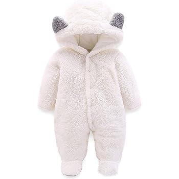 Neonato Tuta da Neve Inverno Pagliaccetto Vello Tutina Bambino Pigiami Interi Calda Body Carino Addensare Tutine