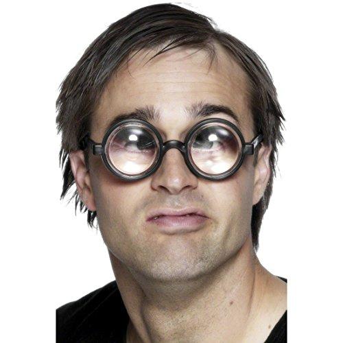 NET TOYS Party Discount ® Riesen-Augen-Brille - Lupenbrille - Doktorbrille - Doofie-Brille