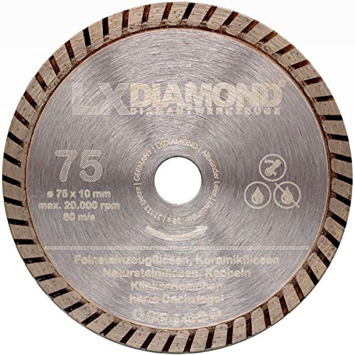 LXDIAMOND Disco de corte de diamante de 75 mm x 10 mm,...