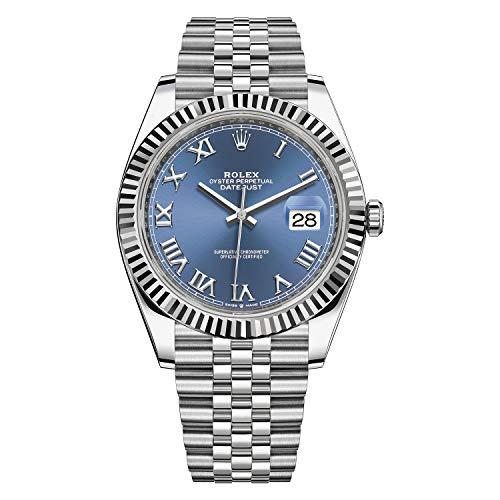 Rolex Datejust 41 Blue Roman Numeral Dial Men's Luxury Watch Ref. 126334
