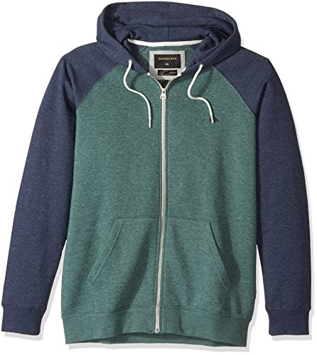Quiksilver Men's Everyday Zip Hoodie Sweatshirt, Silver Pine, X-Large