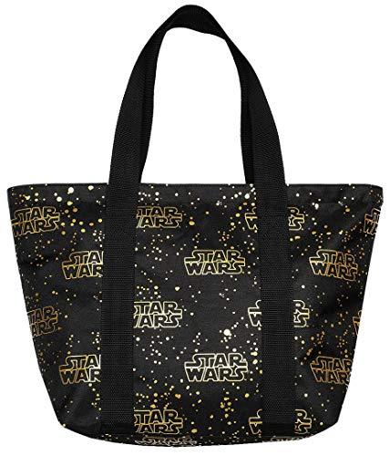 Disney Tote Travel Bag Star Wars Logo Print (Black - Star Wars)