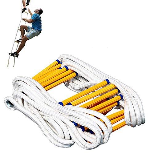 DROMEZ Escalera de Emergencia contra Incendios, Escalera de Cuerda de Seguridad Resistente a Las Llamas, fácil de Usar, compacta y fácil de almacenar, Resistente Escalera de Cuerda para Ejercicios,