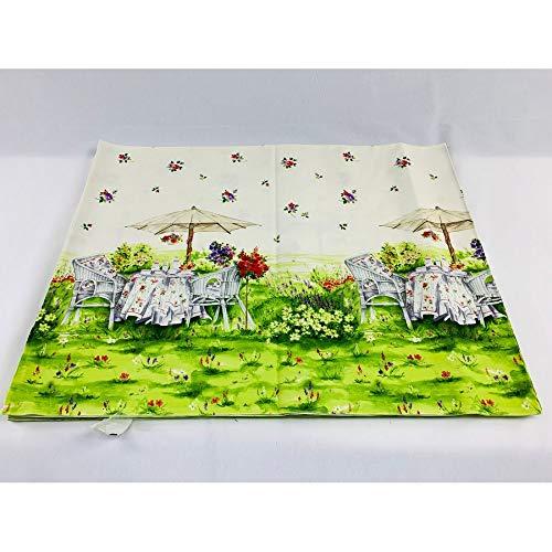 50 cm stof tafelkleed geplaatst banden rand de zij-tuinstoel, paraplu 150 cm hoog