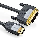 deleyCON 2m DisplayPort a DVI - Max 1920x1200 @60Hz - Full HD 1080p 3D EDID HDCP - DP Maschio a DVI-D (Single Link) Connettore - Mac Notebook PC Monitor